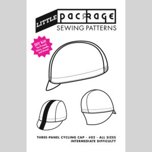 DIY KIT Sewing Pattern - Three Panel Cycling Cap
