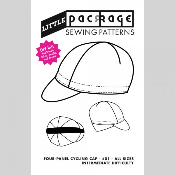 DIY Kit Sewing Pattern - Four-Panel Cycling Cap