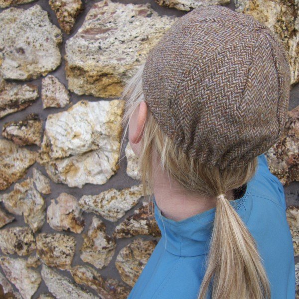 Four Panel Cycling Cap - Example Showing Back