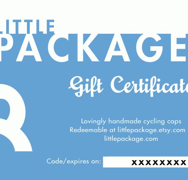 PDF Gift Certificate - Blue