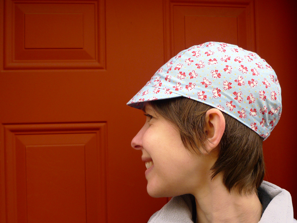 3 Panel Cycling Cap Side