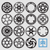 Bicycle Chainring Vectors