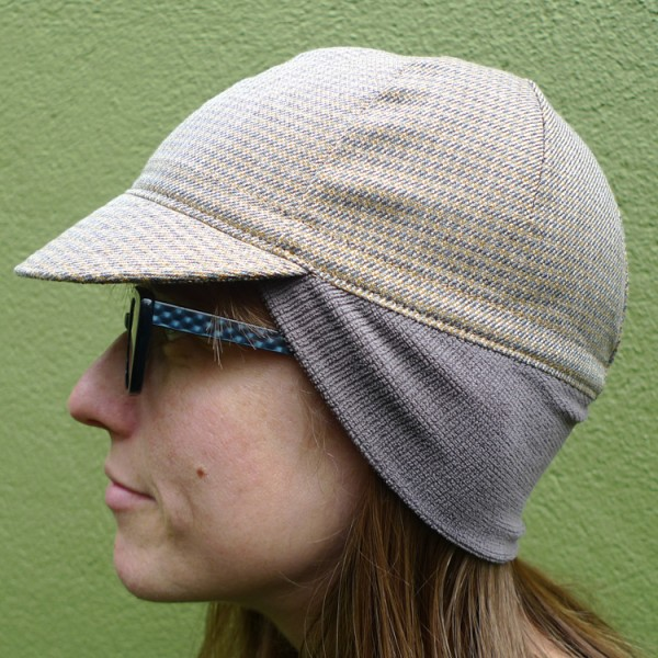 Four Panel Cycling Cap with Earflap Attached