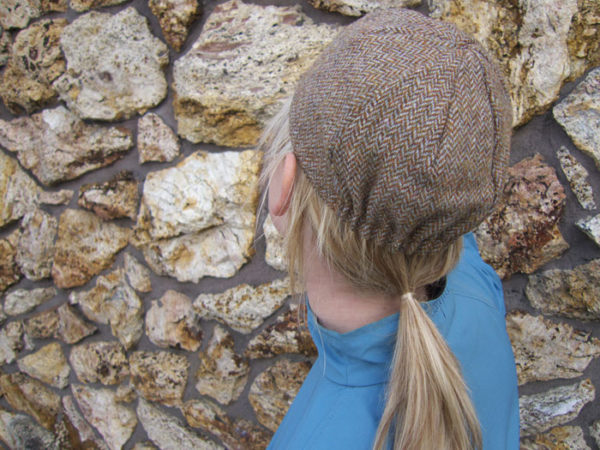 Back of Four Panel One Size Cycling Cap