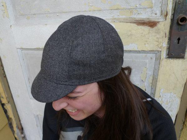 Four Panel Soft Bill Wool Cap