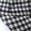 Plaid Wool Cycling Cap – Topstitching