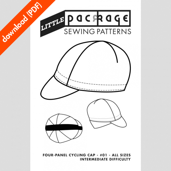 a004cdbd8068 4 panel Little Package sewing pattern cover · 4 panel cycling cap PDF ...