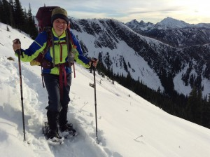 PCT Cherub on Snow Shoes