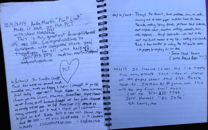 2013 PCT log book