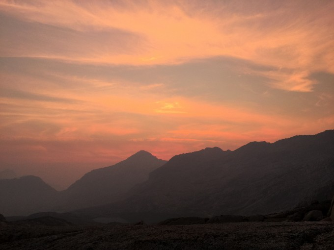 Sunset over Knapsack Pass