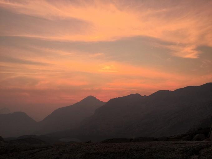 Sunset over Knapsack Pass