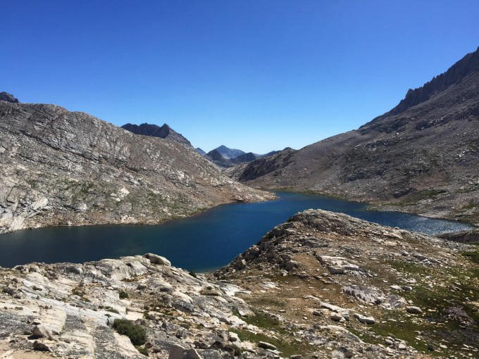 Looking back at Lake Italy from my improvised route up Gabbot Pass