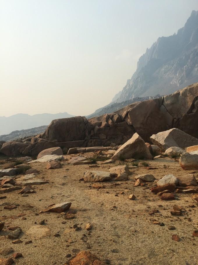 Footprints on Potluck Pass