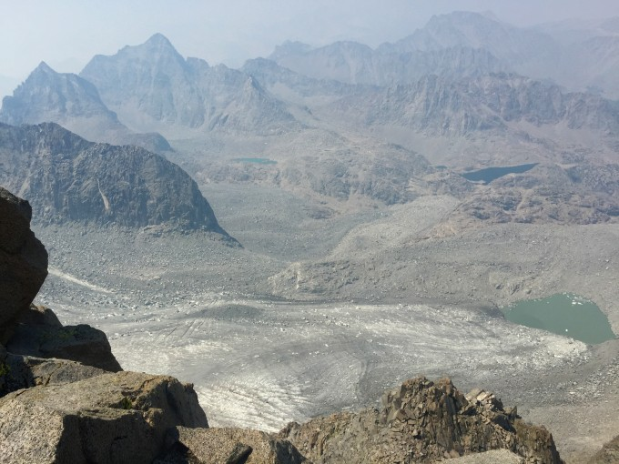 Palisade Glacier from Mount Sill