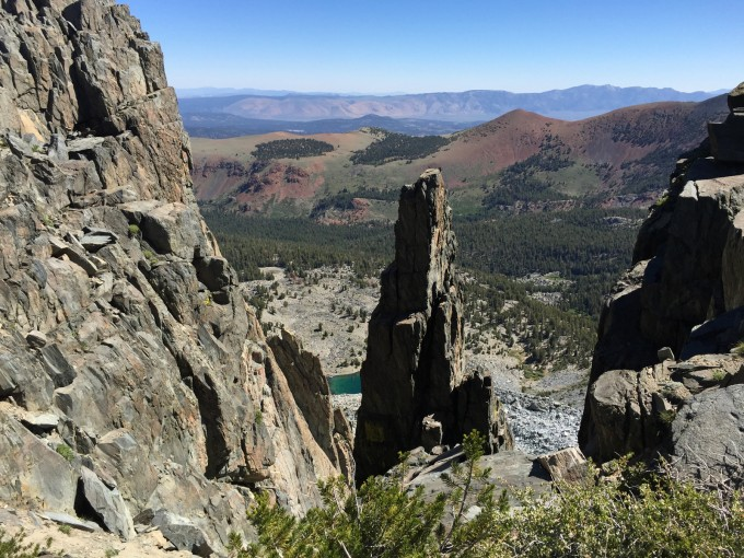 A view down from Mammoth Crest on Hammil lake and out toward Long Valley. It really is this colorful!