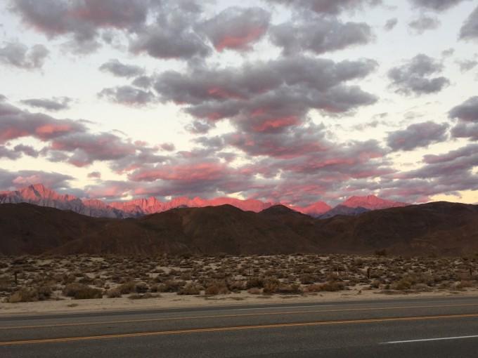 sierra sunrise from 395