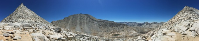 Feather Peak panorama with seas of talus