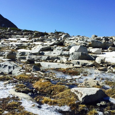 Virginia Pass ice and talus