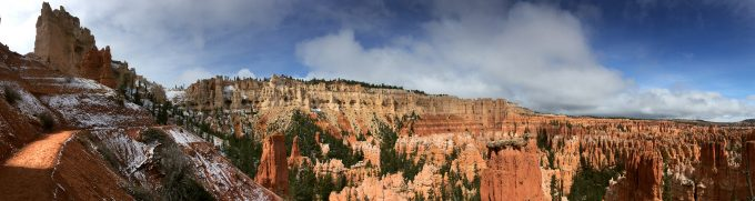snow sprinkles in Bryce Canyon National Park