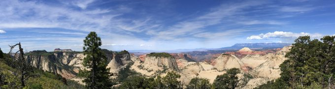 zion west rim trail vista